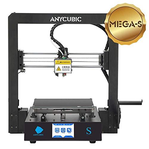 Anycubic S Pro 3D Imprimante avec cadre en métal plein et matelas chauffant ultra fin 1,75 mm en feutre TPU, PLA, ABS