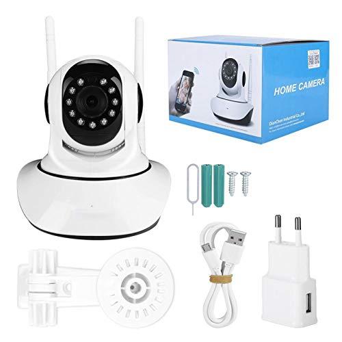 Mxzzand Cámara de Video para el hogar Cámara IP Pan Tilt Cámara inalámbrica WiFi con visión Nocturna inalámbrica por Infrarrojos 110V-240V(EU)
