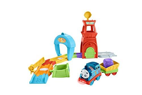 TRENINO THOMAS- Torre di Soccorso, Pista Giocattolo Educativo per Bambini con Suoni, Canzoncine e Frasi, Multicolore, FWC92
