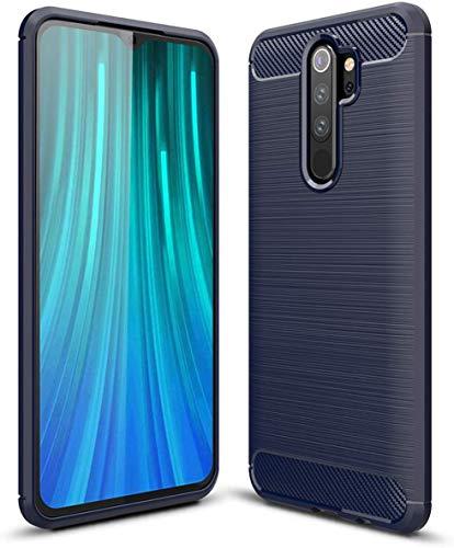 Lapinette Case Compatible with Xiaomi Redmi Note 8 Pro Carbon Fibre – Redmi Note 8 Pro Case Soft Flexible Protection – Redmi Note 8 Pro Carbon Case Blue