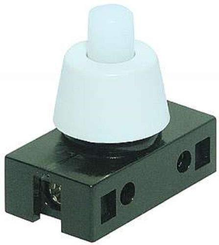 Daier Elektron Einbau Druckschalter für Lampen 250V 2A Weiß
