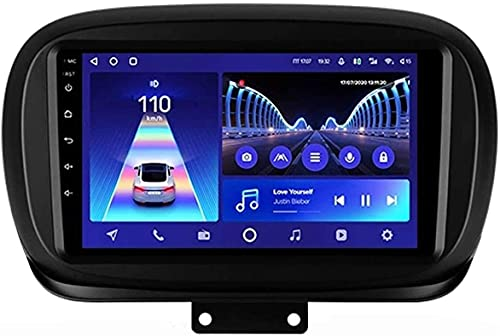 Compatible Para Fiat 500X 2014-2020 Android 10.0 SAT NAV FM Radio Receptor Doble Din Auto Audio Player Coche Estéreo 2.5D HD Pantalla Táctil Monitor LCD Monitor GPS Navegación,4 core WiFi 1+16GB