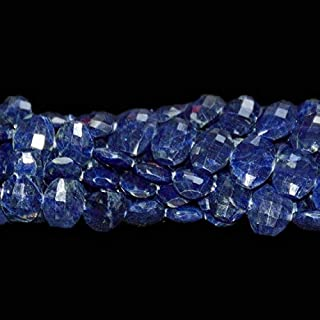 Jewel Beads Natural Beautiful jewellery Lapis Lazuli Faceted oval Shapes Briolettes Center Drill 9 by 11 Sold as 8-inch per strandCode:- JBB-13882