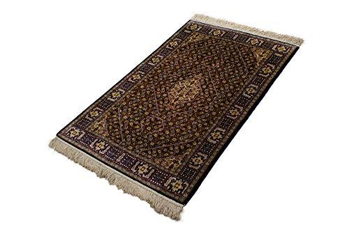 Lifetex.eu Teppich Brücke Hereke Seide ca. 85 x 130 cm Mehrfarbig handgeknüpft Seide Klassisch hochwertiger Teppich