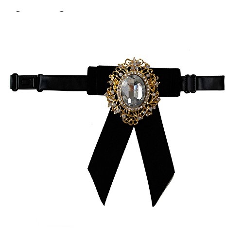 Haut Luxe Noeud Papillon Avec De Gros Pendentif En Diamant Club Velours Noir Serie Auger