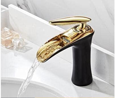 Rubinetto del bagno della cascata a maniglia singola, rubinetti del bacino, rubinetto del miscelatore del bacino, rubinetto della lavandino dell'ottone del rubinetto dell'oro bianco del bagno del bagn