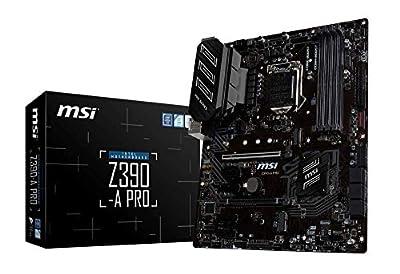 MSI Z390-A PRO Motherboard ATX, LGA1151, DDR4, LAN, USB 3.1 Gen2, Type-C, M.2, RGB Mystic Light, VGA, DVI-D, Display Port, Intel 8th and 9th Gen