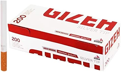 200-2000 x GIZEH Filter TUBES Silver Tips Paper Smoking Rolling Active Cigarette Tobacco Original Standard UK FREE P&P (200 x GIZEH FILTER TUBES SILVER)