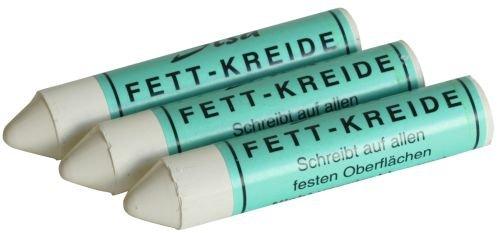 Graisse de 12 craies grasses sISA coloris blanc diamètre: 17 mm-contenu: lot de 12