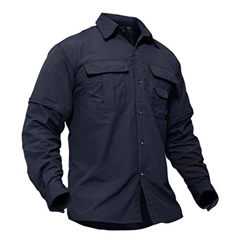 TACVASEN Taktisch Shirt Herren Military Shirt US Army Outdoor Polo Langarmshirt Sport Shirt Männer Atmungsaktiv Militär Shirt Taktisches Hemd Armee Polo Bundeswehr Shirt