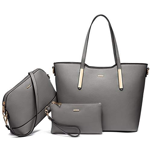 LOVEVOOK Handbags for Women Large Tote Bag with Wallet Shoulder Purses Work Top Handle Satchel 3pcs