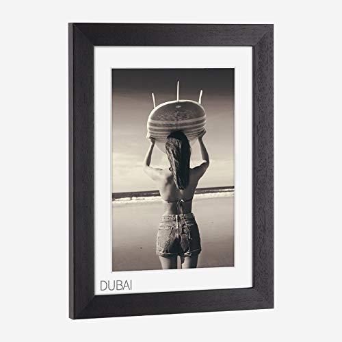 Bilderrahmen Massivholz, lackiert Dubai Schwarz 42x59,4cm (DIN A2)