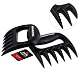 BBQ Masters Meat Claws (Set of 2) - Pulled Pork Bear Claw Meat Shredder Forks - Safely Pull, Shred, Carve and Lift Pork, Beef, Poultry and Fish