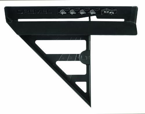 Dremel DSM840 verstekhoek-inzetstuk (accessoireset voor Dremel DSM20 compacte cirkelzaag met 1 voorzetstuk voor het snijden van vloerlijsten, rechte snijden, versteksnijden)