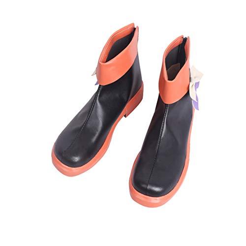 DUNHAO COS Anime Women's Hatsune Miku Vocaloid Halloween Orange Cosplay Custom Shoes Boots Male US 8/EU41