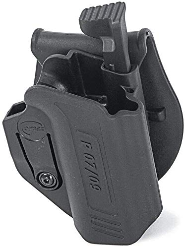 Orpaz Defense Retention Tactical Thumb Release Safety Holster Tention Adjustment Rotating Paddle for CZ P-09 / P-07 9mm