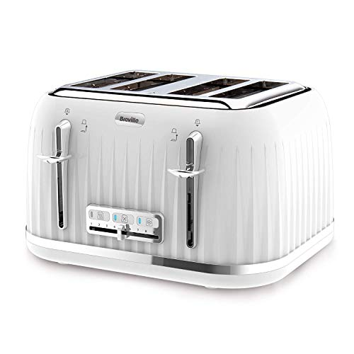 Breville VTT470 Impressions 4-Slice Toaster with High-Lift and Wide Slots, White (Renewed)