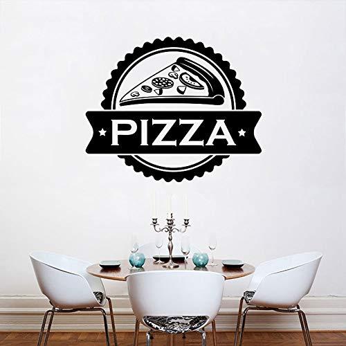 HFDHFH Pizza Logo Etiqueta de la Pared Comida Deliciosa refrigerador Vinilo Pegatina pizzería Cocina Restaurante decoración de Interiores Ventana Arte Papel Tapiz