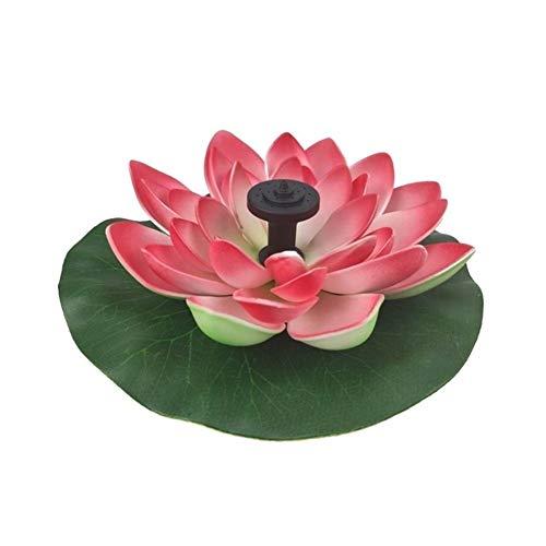 MINGMIN-DZ Dauerhaft Solar Lotus-Brunnen Lotus Blumen-Brunnen-Garten-Brunnen-Teich-Solarbrunnen Wasserpumpe Hof Landschaft Farben (Color : Red)