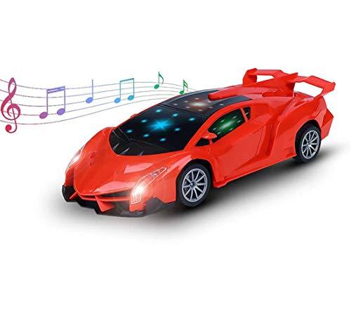 Ferngesteuertes Auto, RC Autos Kinder mit Fernnedienung -Musik-LED-Lichter, Radio Ferngesteuerter High Speed Spielzeugauto Rennfahrzeug für Kinder ab 6