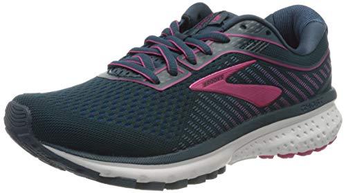 Brooks Women's Ghost 12 Running Shoe, Majolica Blue Beetroot, 4 UK