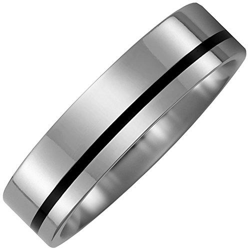 JOBO Aus schwarzer Keramik und rhodiniertem 925 Silber