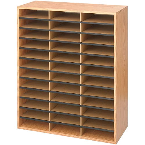 Safco Products Wood/Corrugated Literature Organizer, 36...