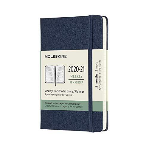 モレスキン 手帳 2020年7月始まり 18カ月 ウィークリーダイアリー ホリゾンタル(横型) ハードカバー ポケットサイズ サファイアブルー DHB2018WH2Y21