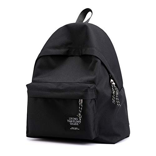 JUNKER Backpack Zaino Viaggio Casual Borsa,Zaino Unisex Classico Adulto Zainetto Multifunzionale Back To Work, Nero