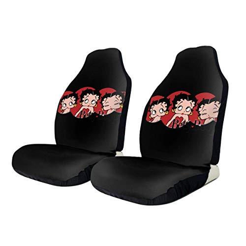 Betty Boop Fundas para asiento de coche Funda antideslizante para asiento delantero, Protectores de asiento de coche Pistas de neumáticos Accesorios para asiento de coche Se adapta a la mayoría