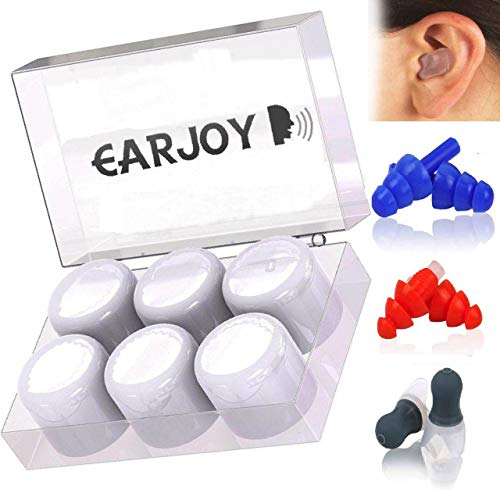 Ear Plugs for Sleeping Eajo Noise Cancelling Earplugs for Shooting Sleep Reusable Safe Silicone Hearing Protection with High Fidelity Blocking