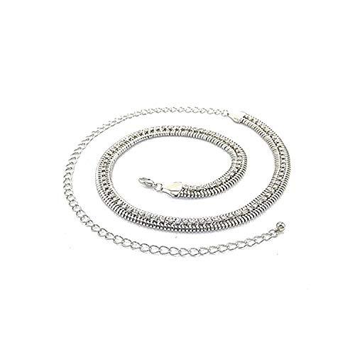 566 Silber Damen Gürtel für Anhänger - modisch - leicht Zubehör - aus Iron - Damen Hüftgürtel von Trimming Shop