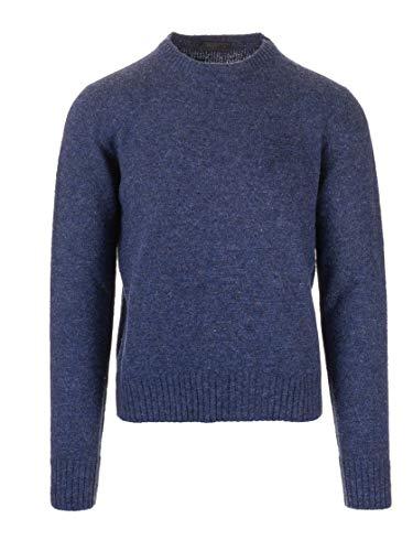 Luxury Fashion | Prada Heren UMA110S13234VF0124 Donkerblauw Wol Truien | Herfst-winter 19
