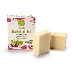 Mara Badetrüffel 2Wannen Bad Pitaya-Kokos, Naturkosmetik,vegan,Bio,handgemacht,Badepralinen,Badekugeln 1er Pack(2x60g g)