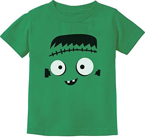 Quafoo Monster Face Disfraz de Halloween, Camiseta para nios pequeos, Verde, 2T