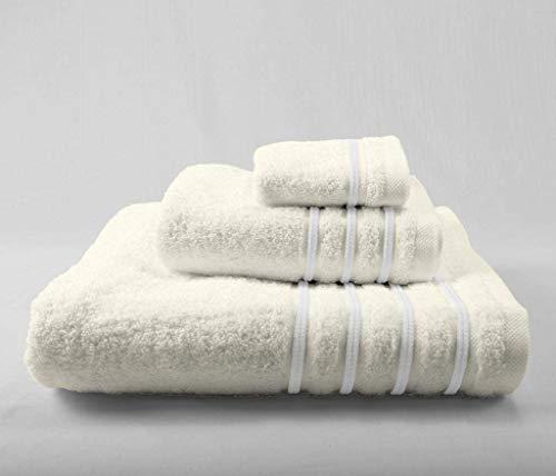 Energy Colors Textil - Hogar - Cenefa Turca - Juego de Toalla 3 Piezas 100% Algodón de 500 Gramos...