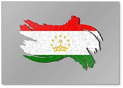 Fahne von Tadschikistan Grunge Flagge Tadschikistan mit Schatten Illustration Kühlschrankmagnet