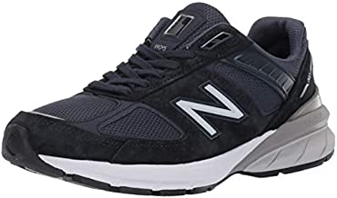 New Balance Women's Made in US 990 V5 Sneaker, Navy/Silver, 9