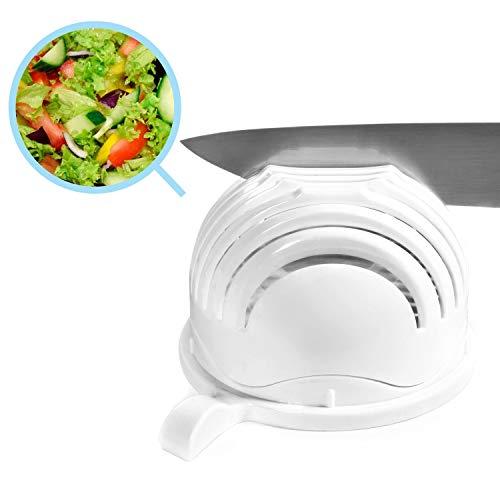GOODS+GADGETS Magic Salad Maker - Salatschneider Salat-Schüssel, 60 Sekunden Schneidemaschine Salatschleuder, 3-in-1 Gemüseschneider für Obst, Gemüse Salat