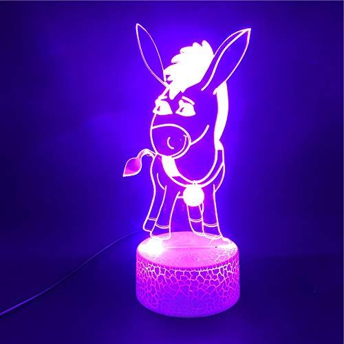 The Lovely Shrek The Gargoyle Loquacious Donkey 3D LED Night Light USB Table Lamp Kids birthday Gift Bedside home decoration
