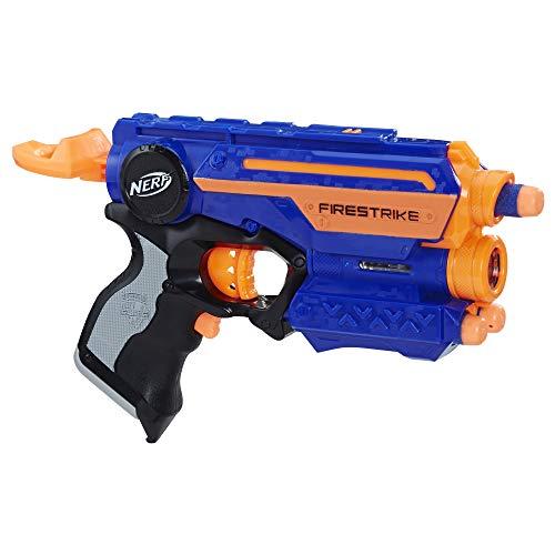 Nerf- Lanzador Firestrike, Color azul (Hasbro 53378EU6) , color/modelo surtido