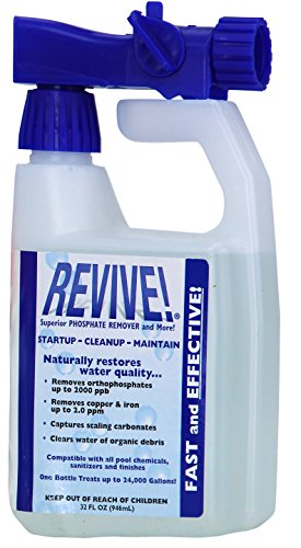 REVIVE! Swimming Pool Phosphate and Algae Remover Chemical For Pools - 32 oz