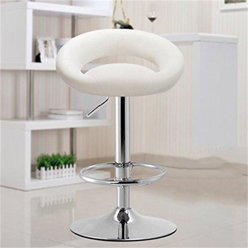 Tabouret en bois Bar tabouret bar chaise réception caissier haute tabouret mode simple style européen pivotant tabouret de bar/violet, blanc (Couleur : Blanc)