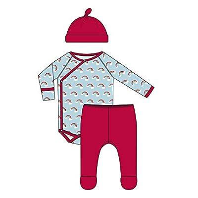 KicKee Pants Celebration Kimono Newborn Gift Set with Elephant Gift Box - Spring Sky Rainbows, Newborn