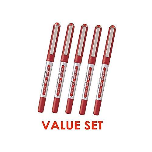 Uni-Ball Eye Micro UB150 Rollerball Micro Penne / 0.5mm - Set di inchiostro / valore rosso di 5(With il nostro negozio descrizione di prodotto originale