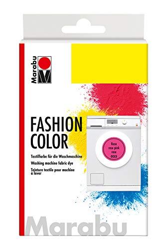 Marabu 17400023033 - Fashion Color rosa, Textilfarbe zum Färben in der Waschmaschine, kochecht, für Baumwolle, Leinen und Mischgewebe, 30 g Farbstoff und 60 g Reaktionsmittel