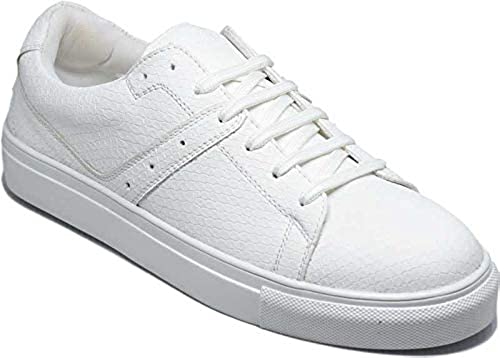 Mens Sybor White Lace Up Fashion Sneakers Lightweight Comfortable Breathable Sports Shoes Casual Sneakers for Everyday Casual Wear Walking Running Gym Travel Sports