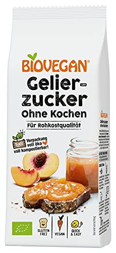 Biovegan Bio Gelierzucker ohne Kochen, für samtige Aufstriche, Einmachzucker für Fruchtaufstriche, vegan und glutenfrei, 8 x 115g