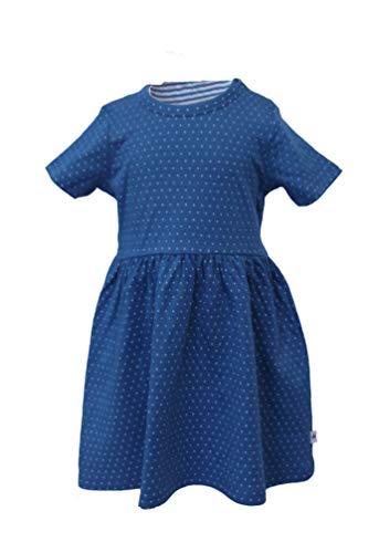 Leela Cotton zomerjurk stippen blauw/wit 2655