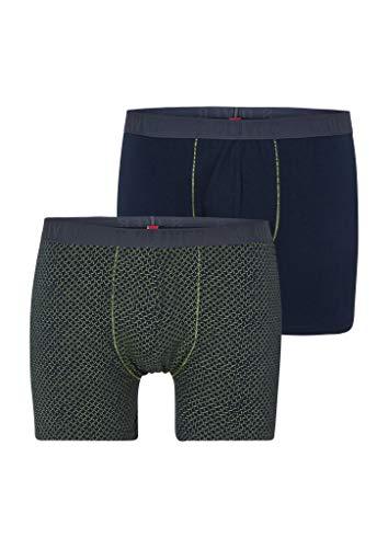 s.Oliver RED Label Herren 2er-Pack Boxershorts mit Gummibund Blue AOP/Blue 3XL